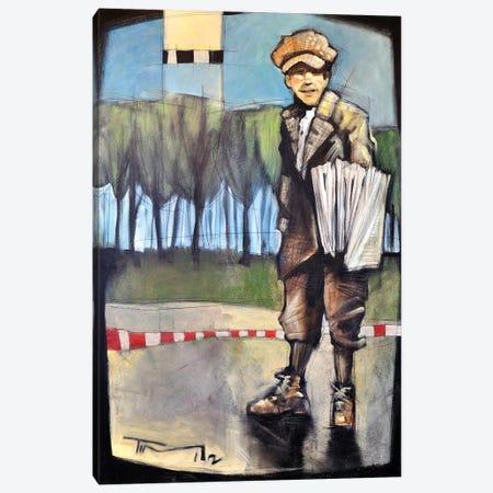 Newsboy Canvas Print #TNG155} by Tim Nyberg Canvas Art Print