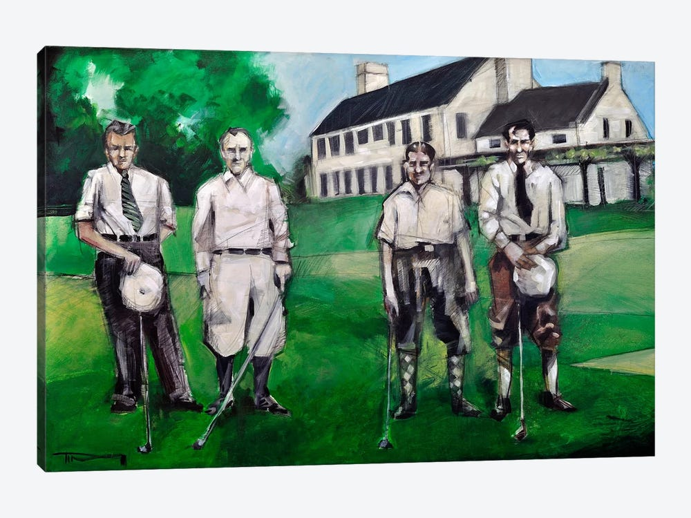 Vintage Golfers by Tim Nyberg 1-piece Art Print