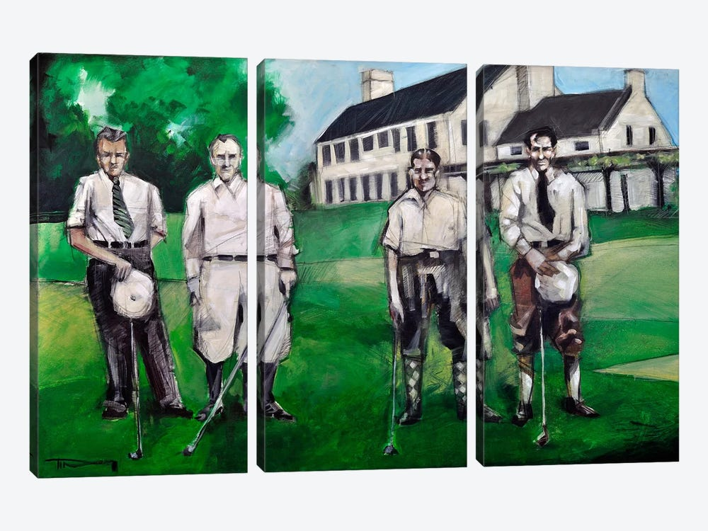 Vintage Golfers by Tim Nyberg 3-piece Art Print