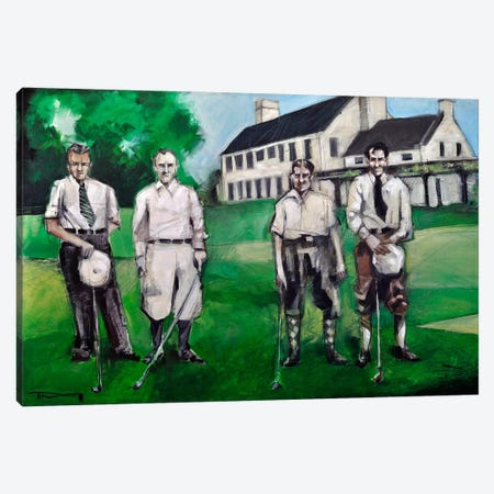 Vintage Golfers Canvas Print #TNG186} by Tim Nyberg Canvas Artwork