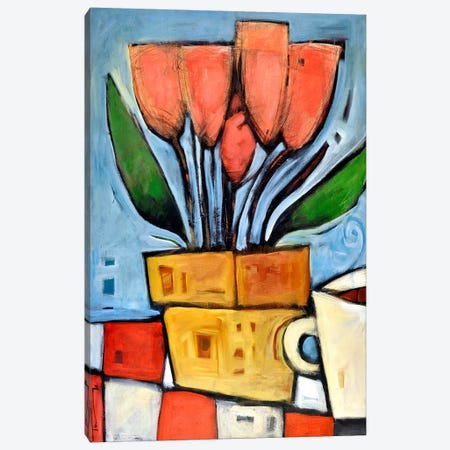 Tulips And Coffee Canvas Print #TNG1} by Tim Nyberg Canvas Wall Art