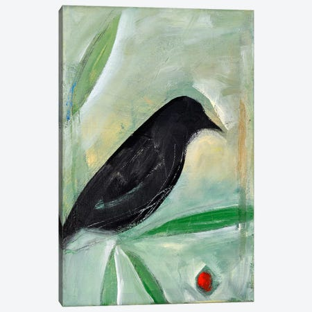 Bird And Berry 1 Canvas Print #TNG204} by Tim Nyberg Art Print