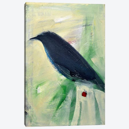 Bird And Berry 2 Canvas Print #TNG205} by Tim Nyberg Art Print
