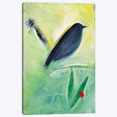 Bird And Berry 3 Canvas Print #TNG206} by Tim Nyberg Art Print