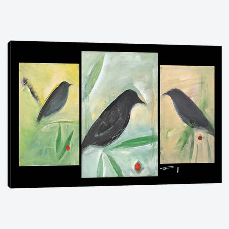 Birds And Berries Triptych Canvas Print #TNG207} by Tim Nyberg Canvas Art Print