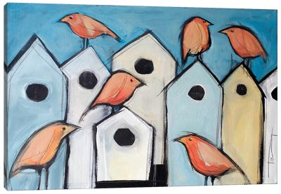 Bird Condos Canvas Art Print