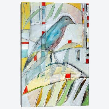 Bluebird On Branch Canvas Print #TNG220} by Tim Nyberg Canvas Wall Art
