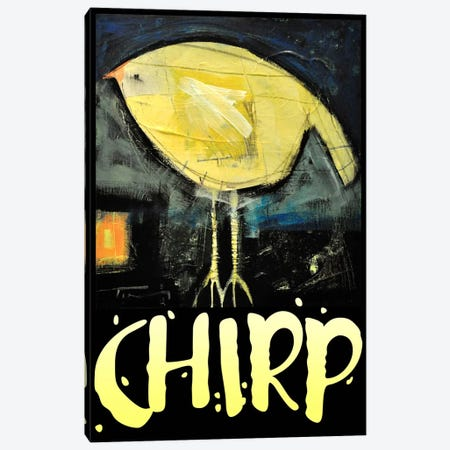 Chirp Poster Canvas Print #TNG223} by Tim Nyberg Canvas Art