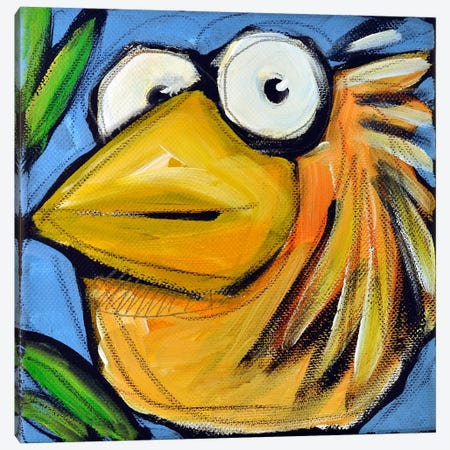 Gold Bird 3 Canvas Print #TNG238} by Tim Nyberg Canvas Art Print