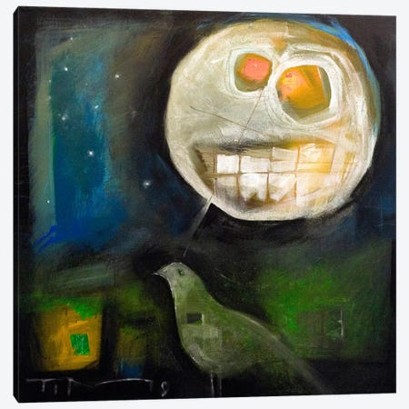 Nightbird Harvestmoon Canvas Print #TNG250} by Tim Nyberg Art Print
