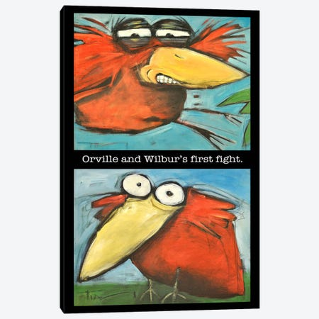 Orville And Wilbur's First Flight Canvas Print #TNG251} by Tim Nyberg Canvas Art Print