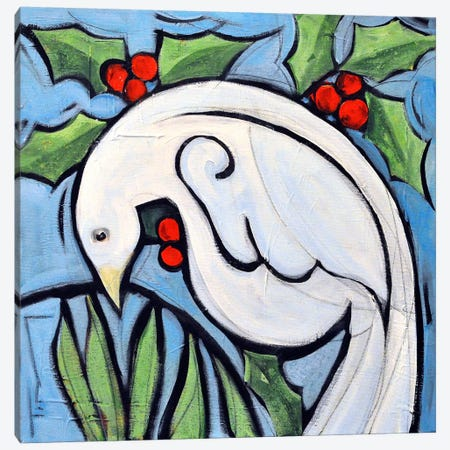 Winter Peace Dove Canvas Print #TNG276} by Tim Nyberg Canvas Artwork