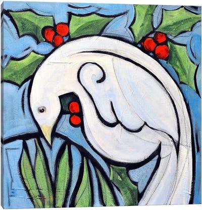 Winter Peace Dove Canvas Art Print