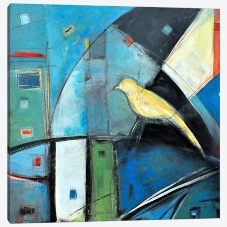 Yellow Bird 1 Canvas Print #TNG277} by Tim Nyberg Canvas Wall Art