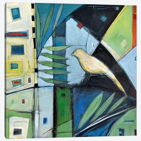 Yellow Bird 2 Canvas Print #TNG278} by Tim Nyberg Art Print