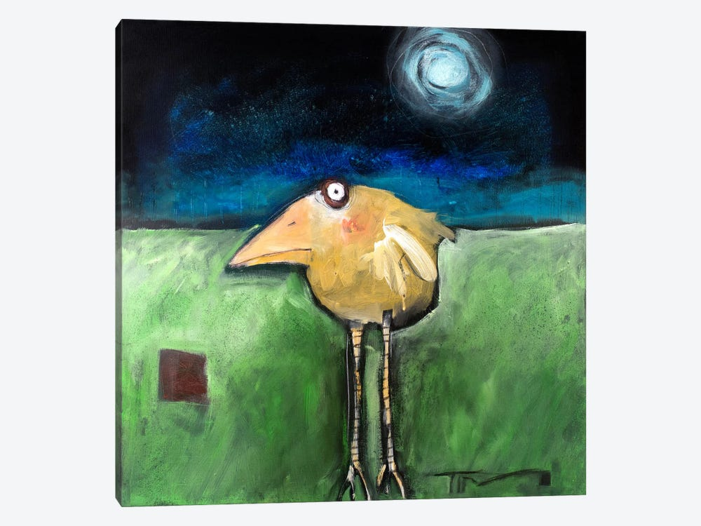 Yellow Bird In Moonlight by Tim Nyberg 1-piece Canvas Art Print
