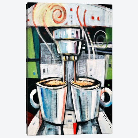Barista Canvas Print #TNG282} by Tim Nyberg Canvas Artwork