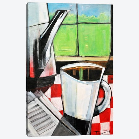 Coffee And Morning News Canvas Print #TNG283} by Tim Nyberg Canvas Wall Art