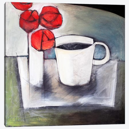 Coffee And Roses Canvas Print #TNG285} by Tim Nyberg Art Print