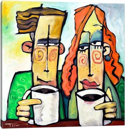 Coffee Date Canvas Art Print