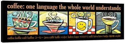 Coffee World Poster Canvas Art Print