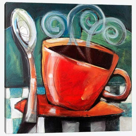 Cup And Spoon Canvas Print #TNG295} by Tim Nyberg Canvas Art