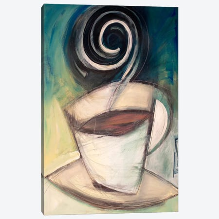First Cup Of The Day Canvas Print #TNG297} by Tim Nyberg Canvas Wall Art