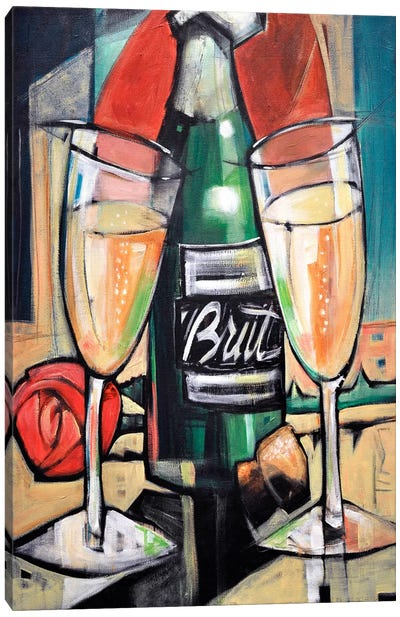 Celebrate Bubbly Canvas Art Print