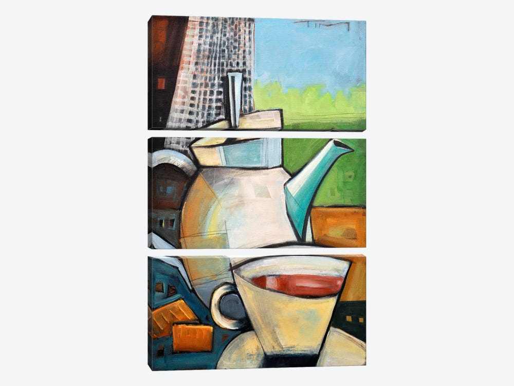 Tea Time by Tim Nyberg 3-piece Canvas Print