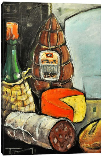 Bottle Of Wine Italian Deli Canvas Art Print