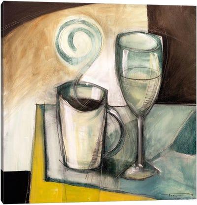 Coffee Wine Canvas Art Print
