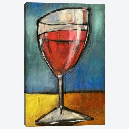 Glass Of Red Canvas Print #TNG313} by Tim Nyberg Canvas Art