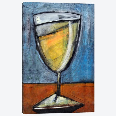 Glass Of White Canvas Print #TNG314} by Tim Nyberg Canvas Art Print