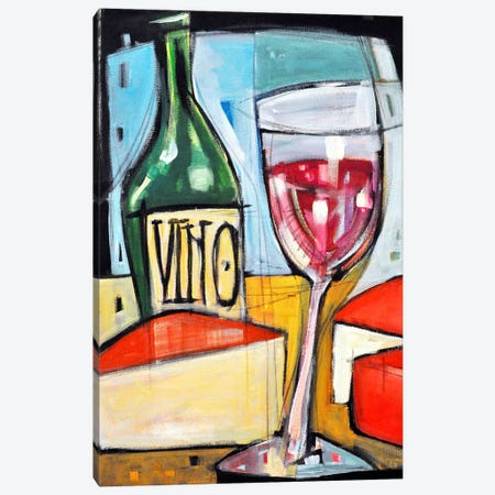 Red Wine And Cheese Canvas Print #TNG322} by Tim Nyberg Canvas Art Print