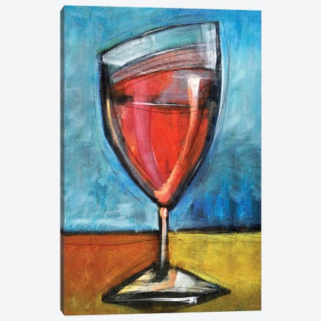Second Glass Of Red Canvas Print #TNG323} by Tim Nyberg Canvas Art Print