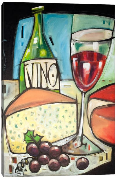 Wine And Cheese Please Canvas Art Print