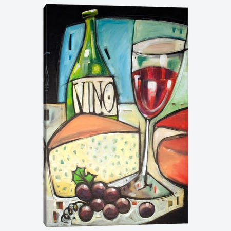 Wine And Cheese Please Canvas Print #TNG328} by Tim Nyberg Canvas Art Print