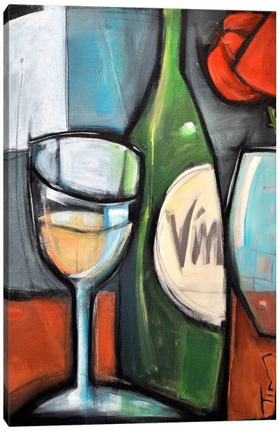 Wine Bottled Poetry Canvas Art Print