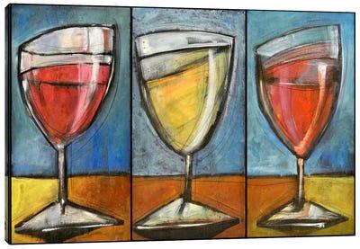 Wine Trio Triptych Canvas Art Print