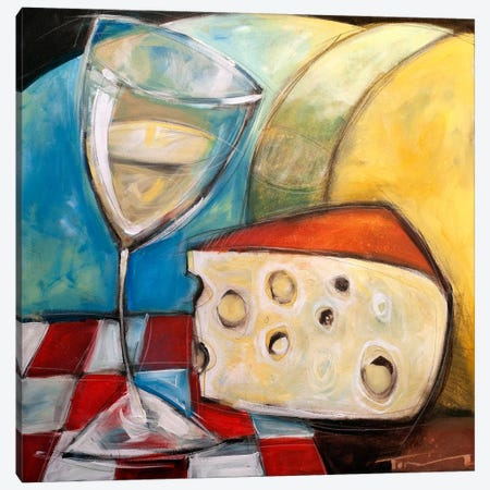 Wine Wedge And Wheel Canvas Print #TNG332} by Tim Nyberg Canvas Wall Art
