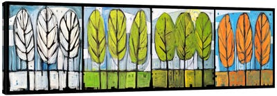 Four Seasons Tree Series Horizontal Canvas Art Print