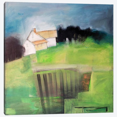 House On Hill With Garden Canvas Print #TNG344} by Tim Nyberg Canvas Art