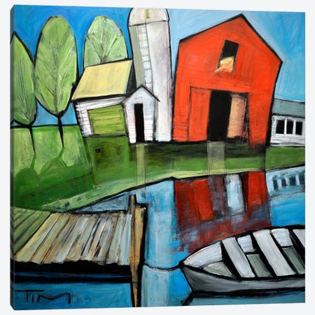 Lakeside Farm Canvas Print #TNG345} by Tim Nyberg Canvas Artwork