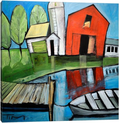 Lakeside Farm Canvas Art Print