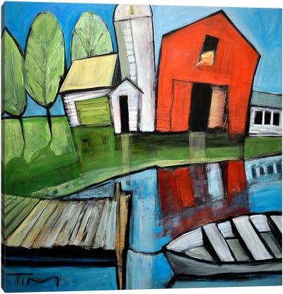 Lakeside Farm Canvas Art Print