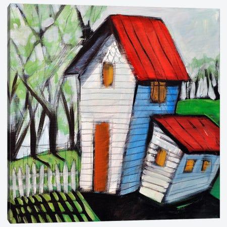 White Picket Canvas Print #TNG355} by Tim Nyberg Art Print