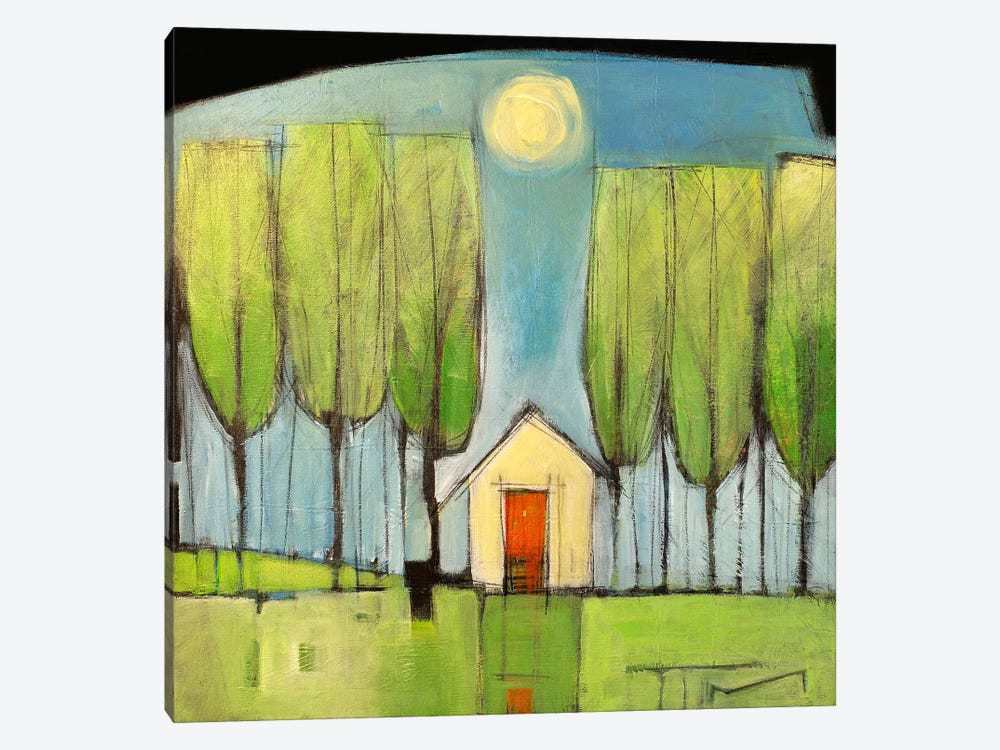 Yellow House In Woods by Tim Nyberg 1-piece Canvas Wall Art