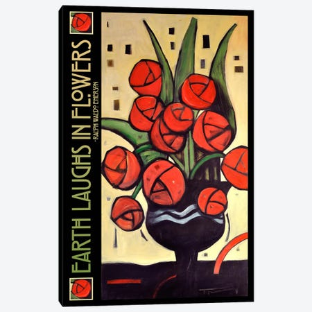 Roses In Vase Poster Canvas Print #TNG60} by Tim Nyberg Art Print