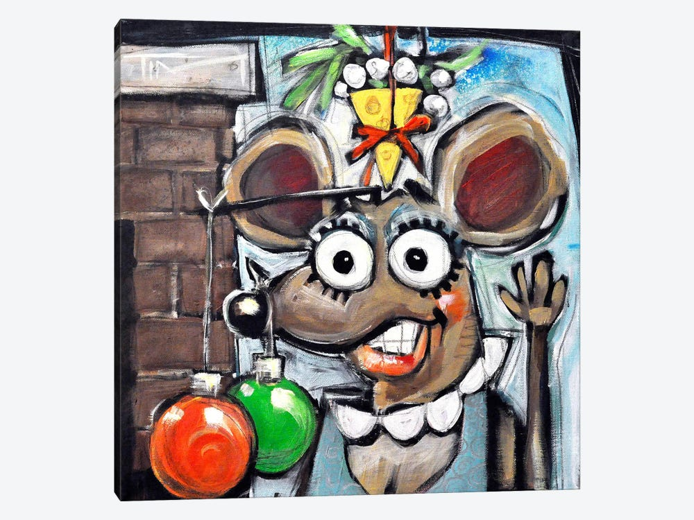 Merry Christmouse 1-piece Canvas Art Print