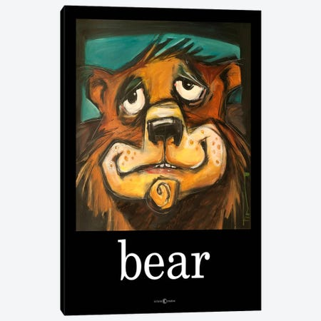 Bear Poster Canvas Print #TNG69} by Tim Nyberg Canvas Art Print